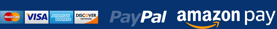 We Accept Mastercard, Visa, AmEx, Discover, and Paypal