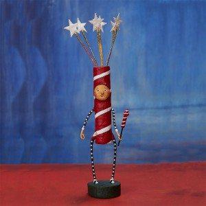 Lori Mitchell Figurine - Sparky Figurine - Wooden Duck Shoppe