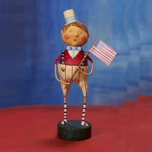 Lori Mitchell Figurine - Franklin Freedom Figurine - Wooden Duck Shoppe