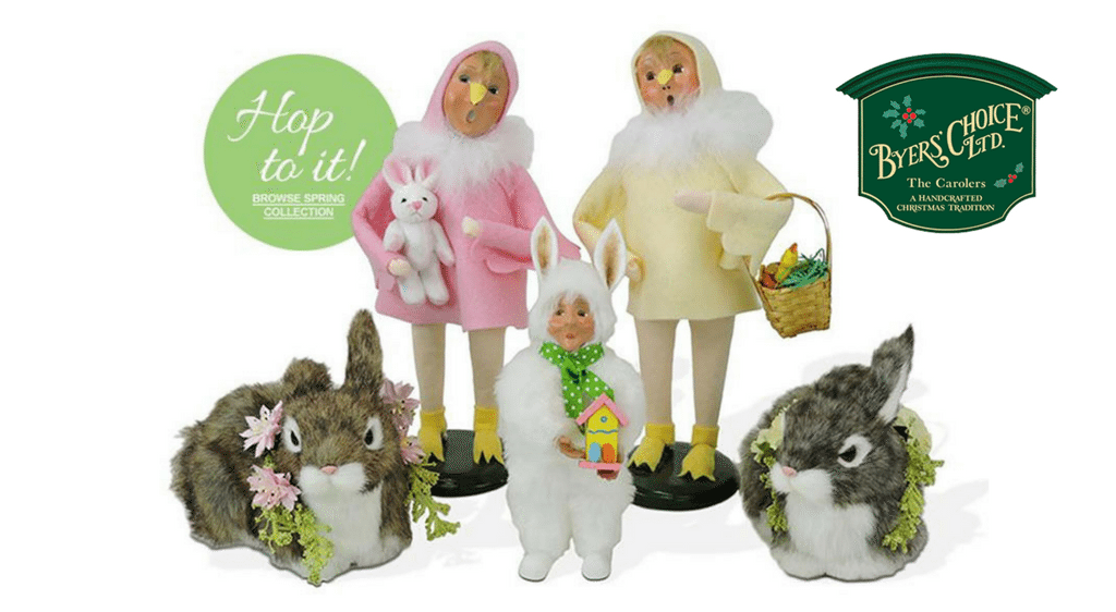 Byers' Choice easter and spring carolers on sale now