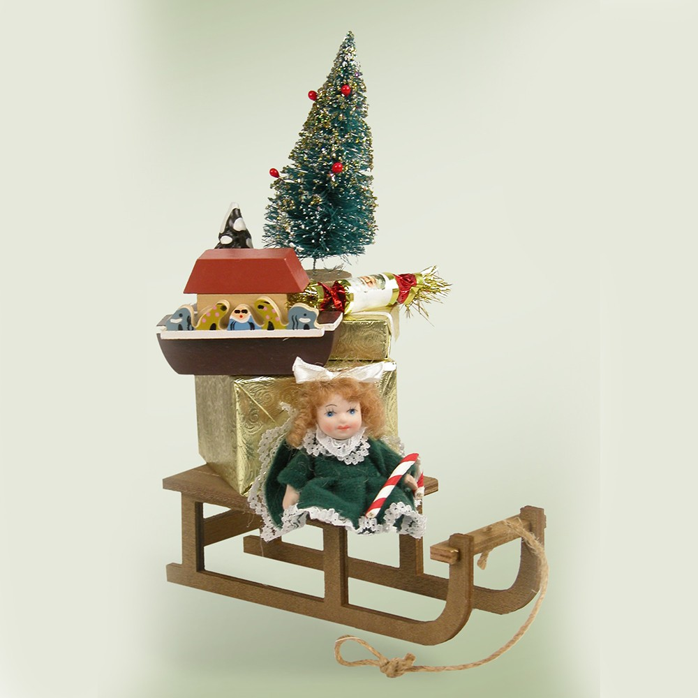 Decoration Ideas Are Christmas Carolers Decorations Needed: Byers Choice – Decorated Sled With Gifts 2012