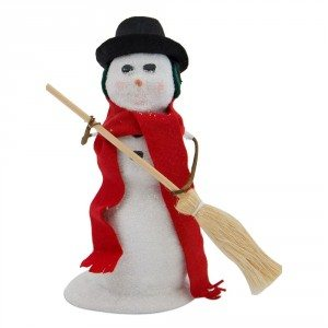 Byers Choice - Snowman with Broom 2017