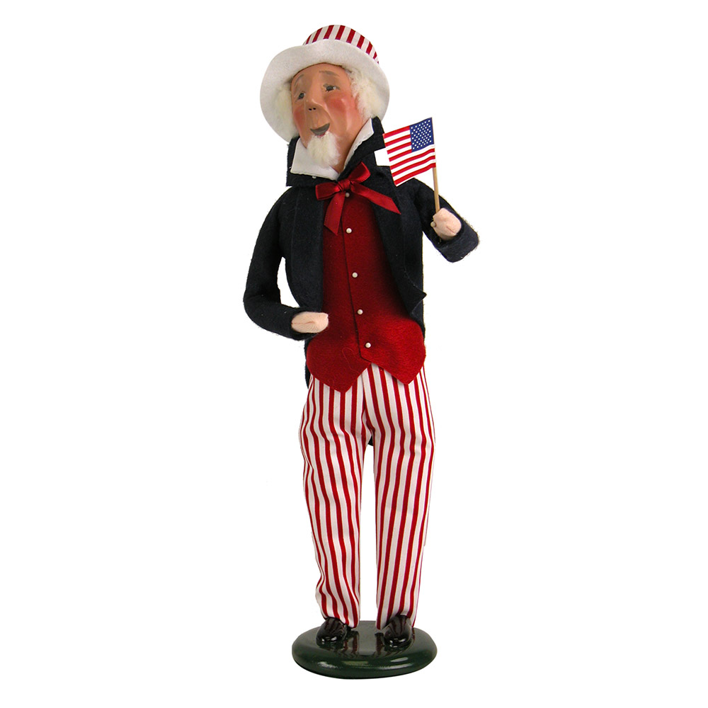 Byers Choice - 2018 Uncle Sam with Red Stripes on Pants - Wooden Duck Shoppe