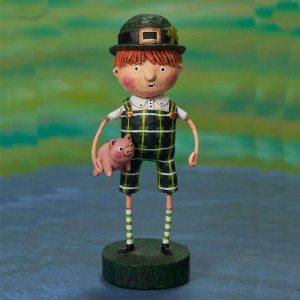 Lori Mitchell Figurine - Paddy O' Swine Figurine - Wooden Duck Shoppe