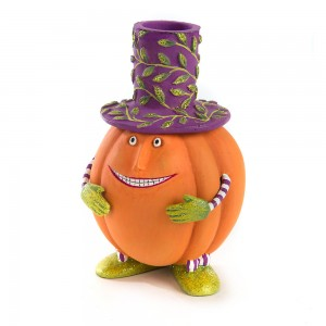 Patience Brewster Peter Pumpkin Taper Candle Holder